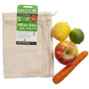 Maistic Sac Réutilisable en Coton Biologique pour Fruits & Légumes - 1 Grand Sac