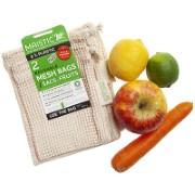 Maistic Sac Réutilisable en Coton Biologique pour Fruits & Légumes - 2pc