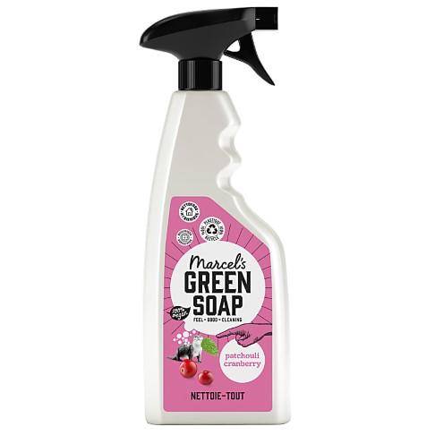 Marcel's Green Soap Spray Nettoie-Tout Patchouli & Canneberge