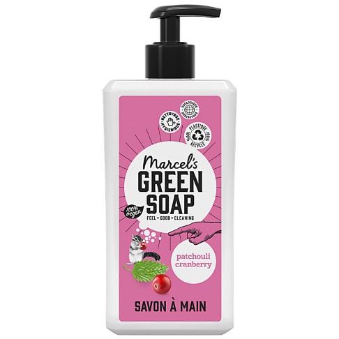 Marcel's Green Soap Savon Main - Patchouli & Canneberge (500ml)
