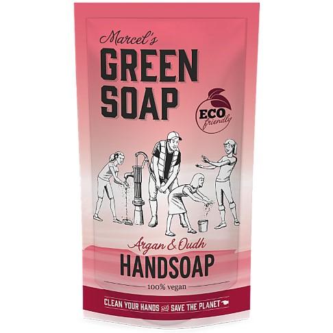 Marcel's Green Soap Savon à Main Argan & Oudh - Sachet de Recharge (500 ML)