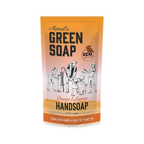 Marcel's Green Soap Savon Main Orange & Jasmin Sachet de Recharge 500ML