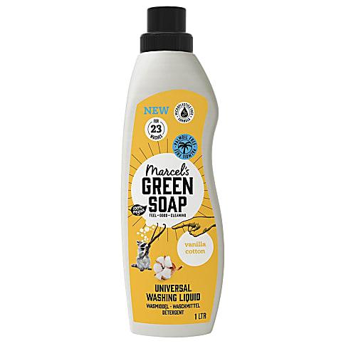 Marcel's Green Soap Détergent à Lessive Liquide Coton et Vanille
