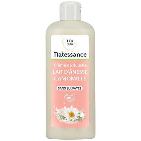 Natessance - Douche Crème Lait d'ânesse Camomille - Sans Sulfates - 500 ml