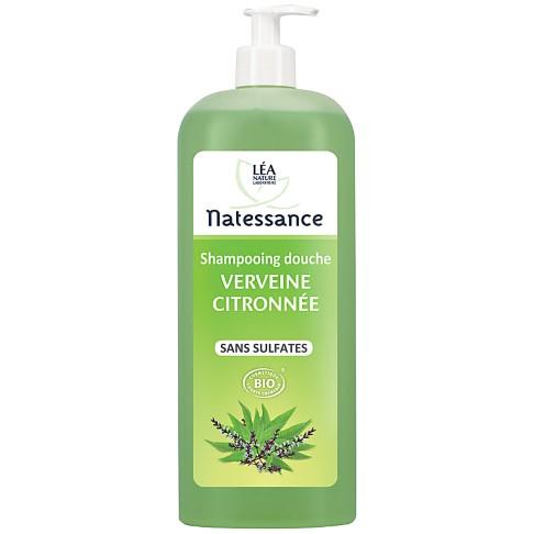 Natessance - Shampooing Douche Verveine Citron - Sans Sulfates - 1 l