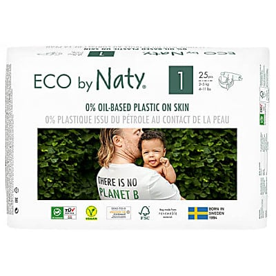 Naty by Nature Babycare - Couches : Taille 1 Nouveau-Né