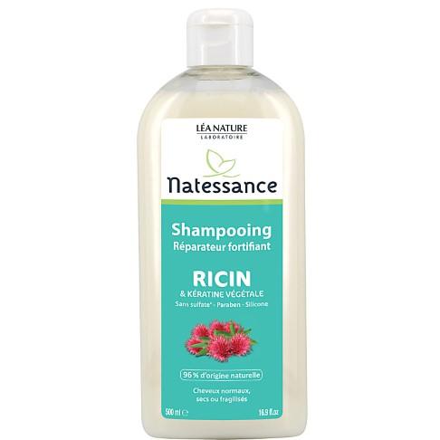 Natessance - Shampoing Huile de ricin et Kératine végétale - 500ml