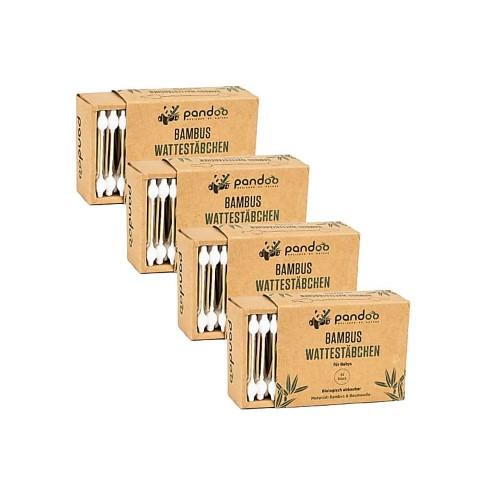 Pandoo Cotons-Tiges en Bambou pour Bébé (4x55 unités)