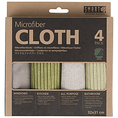 Smart Chiffons en Microfibre - Grey-Green