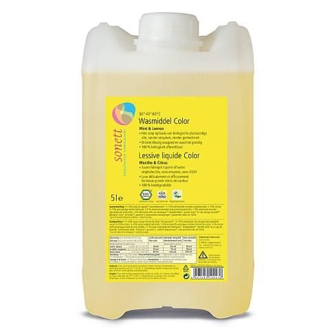 Sonett Lessive Liquide Color - Menthe & Citrus 5L
