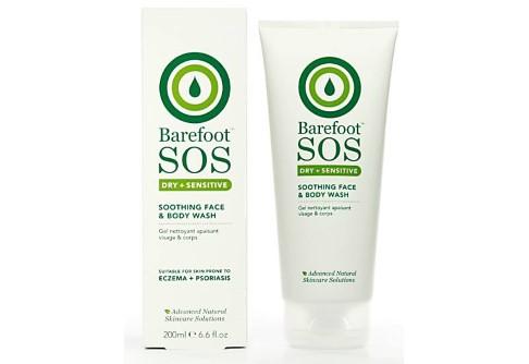 Barefoot SOS Dry + Sensitive Gel Nettoyant Apaisant Visage et Corps