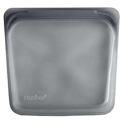 Stasher Sac Black on Grey 18 x 19 cm