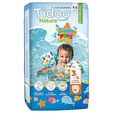 Tidoo Nature Couches de Bain Swim & Play - Taille 3 (4-9 kg)