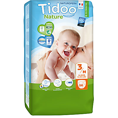 Tidoo - Jumbo 56 Couches Ecologiques MIDI (T3) - 4/9kg