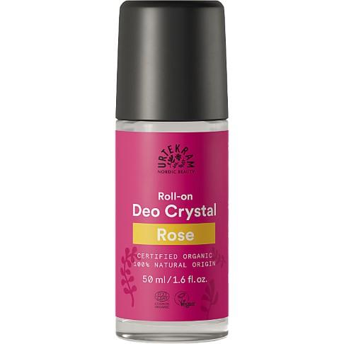 Urtekram - Deo Crystal Roll-On - Rose - 50 ml