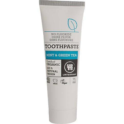 Urtekram - Dentifrice Sans Fluor - Menthe Thé Vert - 75 ml
