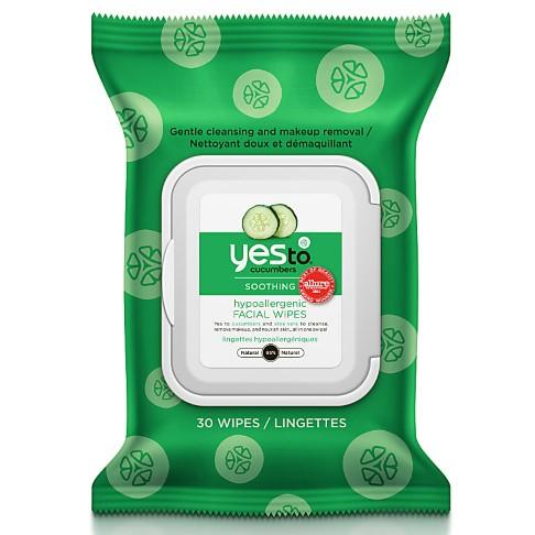 Yes To Cucumbers - Lingettes Visage Nettoyantes et Apaisantes