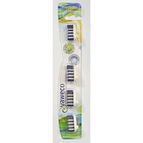 Yaweco Têtes de Brosses à Dents à Poils Medium (4 recharges)
