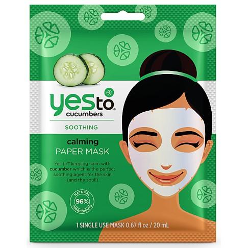 Yes to Cucumbers Masque en Papier Apaisant