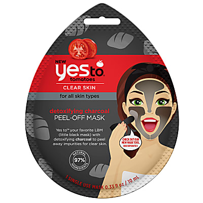 Yes To Tomatoes Masque Visage au Charbon de Bois - Usage Unique
