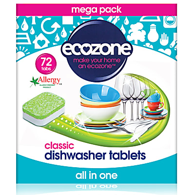 Ecozone - Tablettes Lave-vaisselle All in One (72 tablettes)