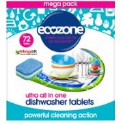 Ecozone Tablettes Lave-Vaisselle Ultra Tout-En-Un (72)